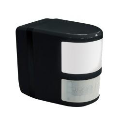 Black PIR Detector with LED Comfort Light 180deg / 12m Detection for Wall or Ceiling