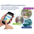 ControlZAPP Ceiling Flush Control for Switching & Dimming 1-10VDC Ballasts, Programmable CZCEFLP10VDC