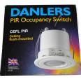 Ceiling Flush Mounted 360 deg PIR Occupancy Presence Switch in White, Danlers CEFL PIR