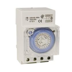 DIN Rail Mounted 24g Analogue Timer, 3 Modules BG Electrical Nexus Circuit Protection