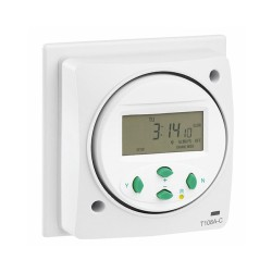 7 Day/24h Socket Box Electronic Timer 16A resistive/8A inductive for Lighting and Heating