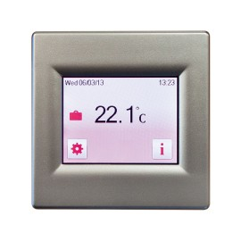Touch Screen 7-day Programmable Thermostat in Silver for Loads up to 3.6kW 16A, BN Thermic T16CS