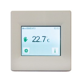 Touch Screen 7-day Programmable Thermostat in White for Loads up to 3.6kW 16A, BN Thermic T16CW