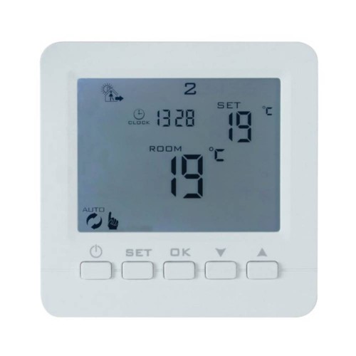 Basic Programmable Thermostat IP20 16A in White, BN Thermic B16C Programmable Heater Controller