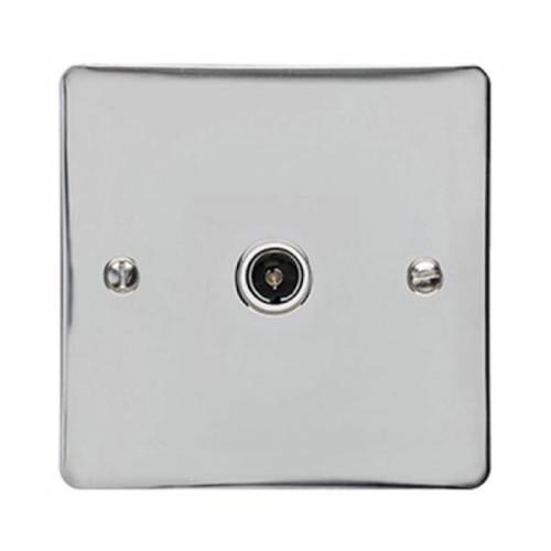 1 Gang Single TV/Coax Non Isolated Socket