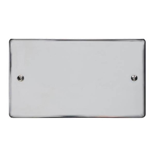 2 Gang Double Blank Plate