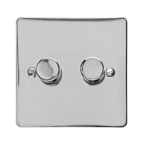 2 Gang LED Dimmer Elite Flat Plate