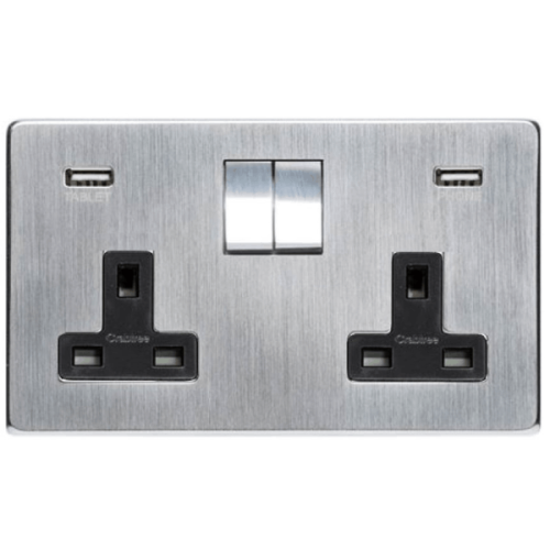 2 Gang Sockets with USB Charger