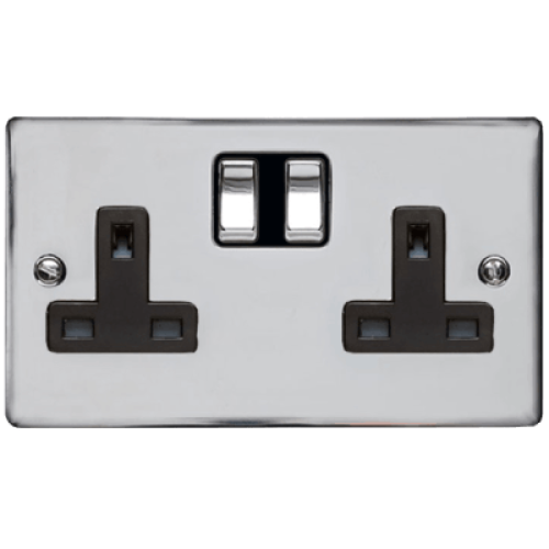 2 Gang 13A Switched Twin Socket