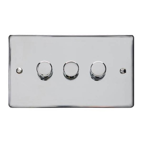 3 Gang LED Dimmer Elite Flat Plate