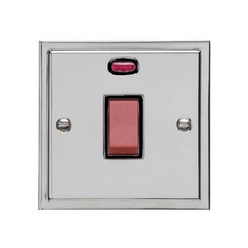 45A Red Rocker Cooker Switch (Single Plate)