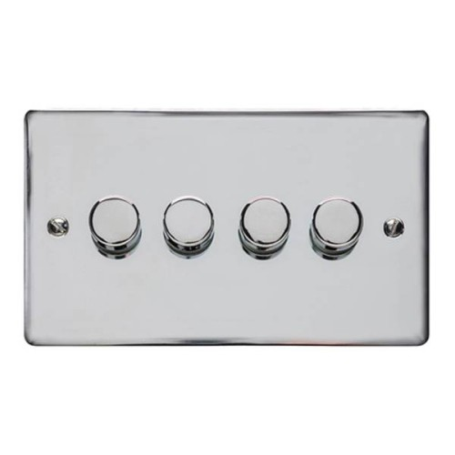 4 Gang 2 Way 400W Push On/Off Dimmer
