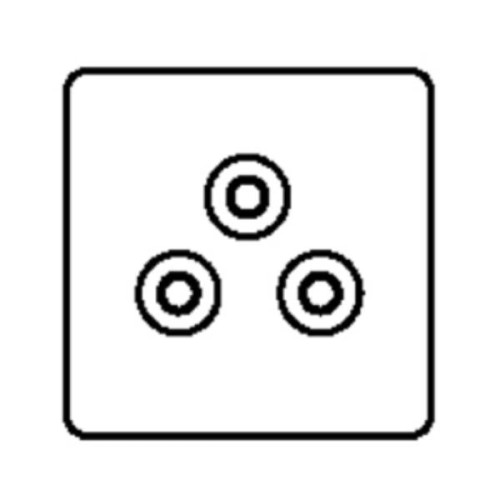 5A 3 Pin Unswitched Socket (round pin)