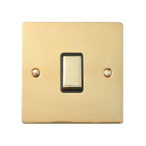 Polished Brass Elite Flat Plate