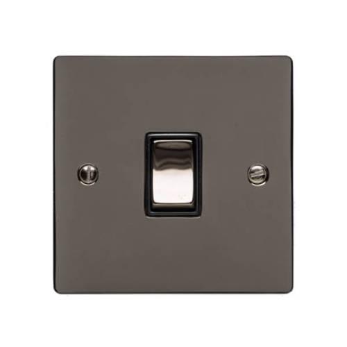 Polished Black Nickel Elite Flat Plate
