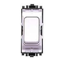 MK K4892WHI 2 Way 1 Grid Switch Module 20A Single Pole (Grid Plus White)