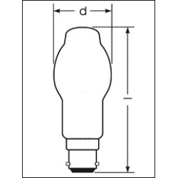 60W 240V Halogen A BC Frosted Lamp