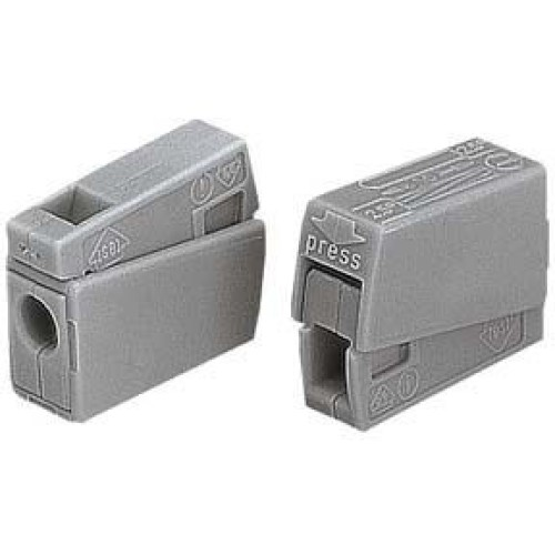 Wago Standard Lighting 2.5mm Cable Connector + Test Point (Grey) - WAGO 224-101
