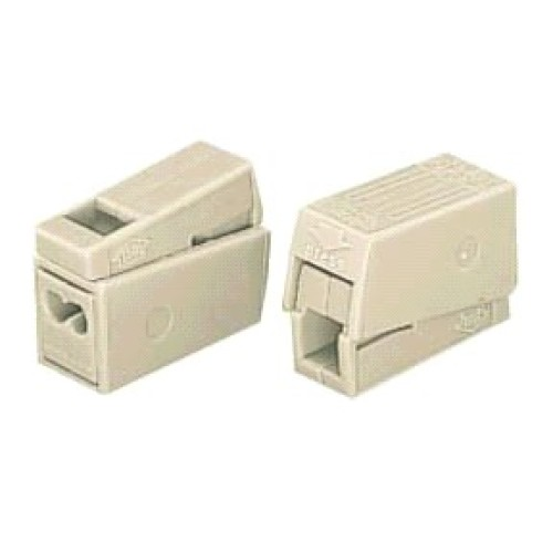 Wago 2-Conductor Lighting Cable Connector 2.5mm + Test Point (White) - WAGO 224-112