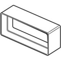 Flat Channel Connector 100mm/4