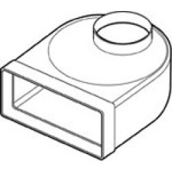 Flat Channel To Round Elbow Adaptor 110 x 54mm
