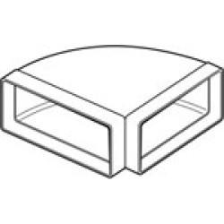 Horizontal 90o Flat Ducting Bend 100MM 110 X 54mm