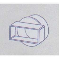 Flat To Round Straight Adaptor 100MM 110 X 54mm