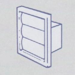 Gravity Shutter Rectangular 100mm, 140 x 140mm grille, 110 x 54mm spigot