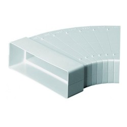 Manrose 204 x 60mm horizontal bend adjustable ducting, Low Profile Ducting