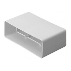 Manrose 204 x 60mm Ducting Flat Channel Connector, Low Profile Ducting