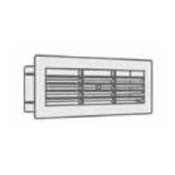 Manrose Horizontal Louvre with Internal Damper 204 x 60mm, Slimline Airbrick wall outlet