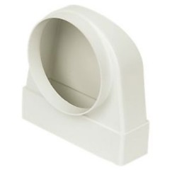Manrose 204 x 60mm 90º Elbow Bend with 150mm Spigot, Low Profile Ducting