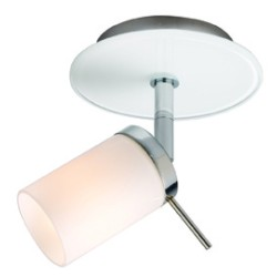 Deco Single Surface Spotlight with Gloss White Glass Chrome Finish using 1 x G9 Lamp