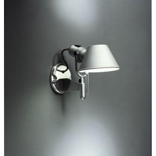 Artemide Tolomeo Faretto Wall Light with Fully Rotational Aluminium Diffuser