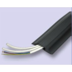 Rubber Cable Protector in black, 14mm x 8mm hole size, price per metre