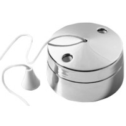 6A 2 way ceiling switch, decorative pull switch in chrome finish