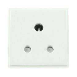 1 Gang 5A Round 3 Pin Socket Euro Module in White (Round Pin Socket Euro Module)