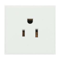 1 Gang 125V 15A US Socket Outlet Euro Module in White (USA Socket New Media module) 50x50mm