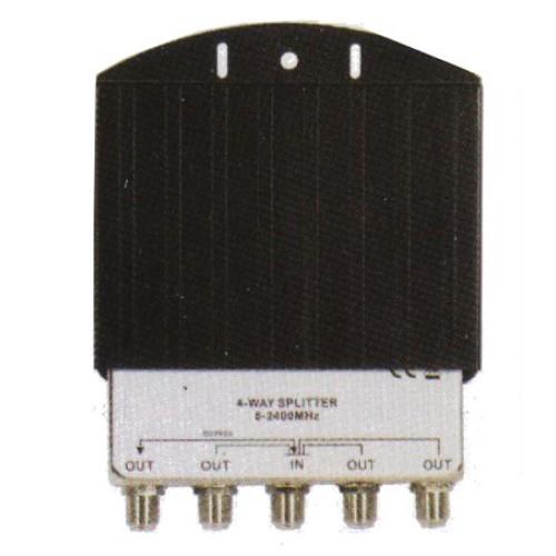 4 Way coax Outdoor Splitter, F connections
