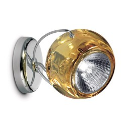Fabbian Beluga Transparent Yellow Adjustable Spot for Ceiling / Wall designed by Marc Sadler