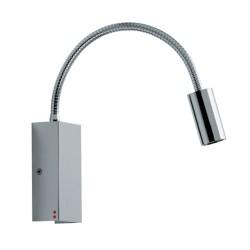 Fabbian Bijou Chrome Flexible Tube 3W 3000K LED Wall Light, design Prospero Rasulo