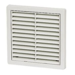 5 inch fixed grill white, Manrose Square White 125mm Louvre Vent