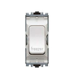 MK K4896FZWHI Grid 20A Double Pole Switch Marked 'Freezer' in White