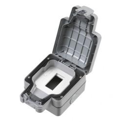 MK Masterseal K56423GRY 1 Gang Data / Telephone Euro Module Enclosure IP66 Grey
