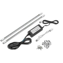 LED Striplight Starter Kit with White LEDs(3000K), silver LED starter kit