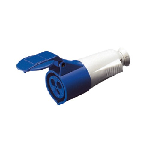 IP44 Protected Standard Blue Female Connector - 2P+E 32A 230V 6H