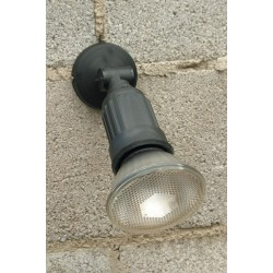 Surface Outdoor Wall Spotlight in Black with Adjustable Head IP44 rated