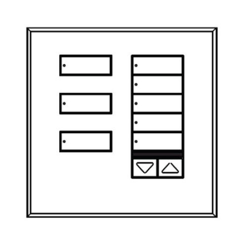 Lutron International SeeTouch QS 8-Button Wallstation in Arctic White with IR Receiver and Raise/Lower, QSWE-8BIRN-AW