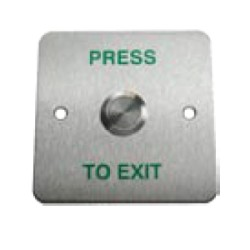 Vandal Resistant Exit Button Switch engraved