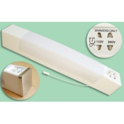 Low Energy Dual Voltage Bathroom Shaver Light, IP44 Rated, 18W 2G11 shaver lamp